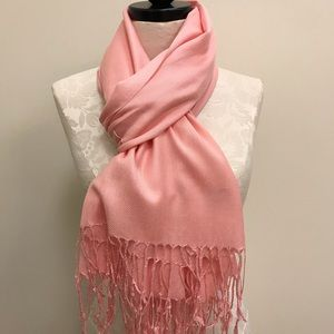 NWT Pashmina Pink Peachy Solid Scarf